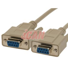 iCAN DB9 RS232 Serial Cable Straight F/F - 6ft. (for PC to FTA Receiver Satellite Cable) (RS232-9FF-006)