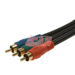 iCAN Premium 3RCA High Definition TV Component Video Cable- 12 ft. (AV 3CMPVDO-12)