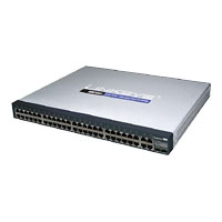 Cisco SF300-48 (SRW248G4-K9-NA) 48-port 10/100 + 4-Port Gigabit Switch with WebView