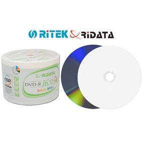 RiDATA DVD-R 16X 4.7GB White Inkjet Printable 50 Packs (DRD-4716-RDIW50N2)