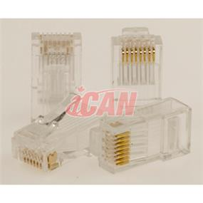 iCAN RJ45 CAT6 Enhanced Plug  (for Solid/Stranded Cat6E patch cable termination) (CON STC6E-501)