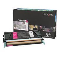 Lexmark C5240MH Magenta High Yield Return Program Toner Cartridge - Magenta - Laser - 5000 Page