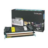 Lexmark C5240YH Yellow High Yield Return Program Toner Cartridge - Yellow - Laser - 5000 Page