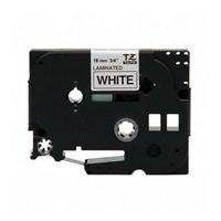 "Brother TZE241 Laminated Tape 3/4"" Black on White for P-Touch (26.2 ft)"
