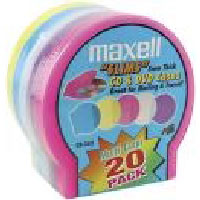 Maxell 20 pk Slimline Jewel Shells - Color (CD-355)