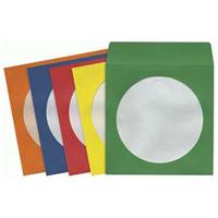 Maxell 50 pk CD & DVD Multi-Color Paper Sleeve (CD-401)