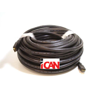 iCAN Heavy Duty Commercial Grade (in-Wall CL3, FT4) Gold Plated HDMI 24AWG Ethernet, 3D, 4K Deep Colour  1080P/1600P - 25 ft. (HH-24-CL3-025)