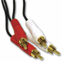 iCAN RCA 2xAudio Red/White Cable M/M - 6 ft. (AV 2RCA-006)