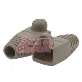 iCAN CAT5 /CAT6 Grey Snagless Boots 10 pcs (BT 6MM-SLGRY-10)