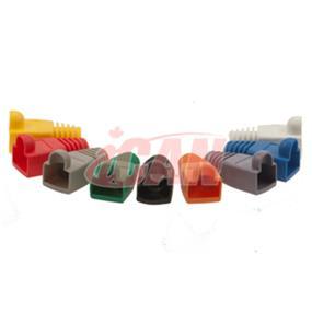 iCAN CAT5/CAT6 Mixed Colours Snagless Boots 10 pcs (BT 6MM-SLMIX-10)