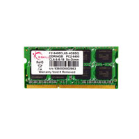 G.SKILL SQ Series DDR2 800MHz (PC2-6400) 4GB SODIMM Memory (F2-6400CL6S-4GBSQ)