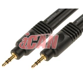 iCAN PREMIUM 3.5mm Stereo Male to 3.5mm Stereo Male 22AWG Cable Gold Plated - 50 ft. (AC35MM-22G-P050)