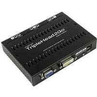 Matrox TripleHead2Go Digital Edition (T2G-D3D-IF), Graphics Expansion Module - 1 x DVD-DL/VGA Input, 2/3 x DVI-I Outputs
