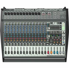 Behringer Europower PMP6000 - 1,600-Watt 20-Channel Powered Mixer with Dual Multi-FX Processor and FBQ Feedback Detection System