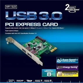 Mediasonic HP1-SU3 USB 3.0 2 Port Superspeed PCI Express Card