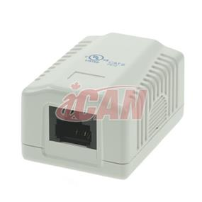 iCAN 1 Port CAT6e Surface Box  (Wall Box) (RJ45 C6EBOX-1WH)