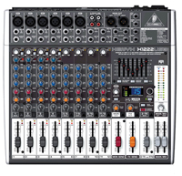 Behringer Xenyx X1222USB, Small Format Mixer - Premium 16-Input 2/2-Bus Mixer with XENYX Mic Preamps & Compressors, British EQs, 24-Bit Multi-FX Processor, USB/Audio Interface and energyXT2.5 Compact BEHRINGER Edition Music Production Software