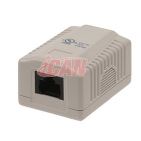 iCAN 1 Port CAT5e Surface Box  (Wall Box) (RJ45 KSBOX-1WHI)