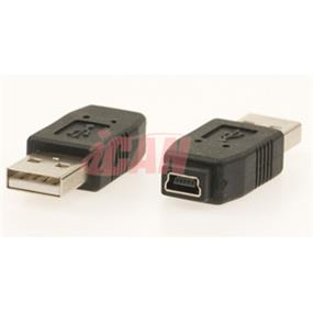 iCAN USB A Male to Mini  B 5-pin Female Adapter (ADP USBAM-MB5F)