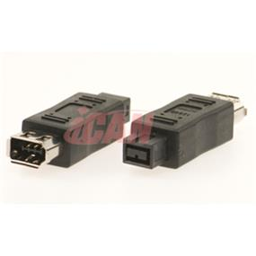 iCAN Firewire  (1394B) 9-pin Male to 6-pin Female Adapter (ADP 1394B-6F9M)