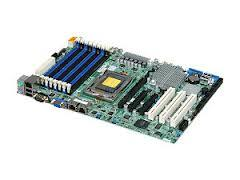 "Supermicro H8SGL-F AMD Chipset SR5650 + SP5100 Support AMD Opteron 6100 Series 8/12-Core CPU, DDR3 1333/1066/800MHz FSB Up to 128GB ECC Registered DIMM, 6x SATA 3.0 Gb/s, Intel 82574L Dual Gigabit LAN, Matrox G200 Graphics ATX 12"" x 8"""