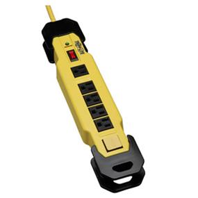 Tripp Lite Safety Surge Suppressor - 6 Outlets, 15 ft. Cord, 2400 Joule, Rugged Metal Case (TLM615SA)