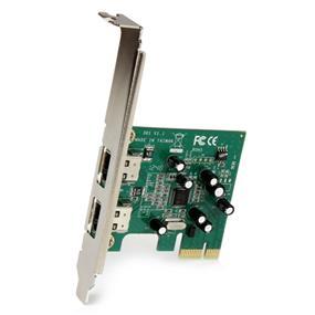 StarTech 2-port Pci-e Firewire 400 Adapter Card for digital Video Editing (PEX1394A2V)
