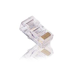 Cables To Go RJ45 Cat5 8 x 8 Modular Plug for Round Stranded Cable - 50pk (11380)