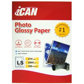 "iCAN Photo Glossy Paper 100 sheets - 8.5"" x 11"" - 210 gsm"