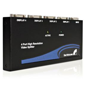 StarTech 4 Port High Resolution VGA Video Splitter 350 MHz (ST124PRO)