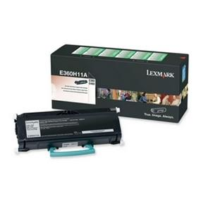 Lexmark E360H11A High Yield Return Program Black Toner Cartridge - Black - Laser - 9000 Page