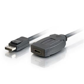 Cables To Go DisplayPort 1.1 Male to HDMI Female Adapter - 8in (54130)