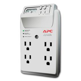APC Power-Saving Timer Essential SurgeArrest Wall Tap - 4 Outlets - 120V (P4GC)