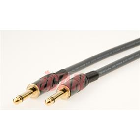 iCAN MONO 1/4 M/M 22AWG High Clarity/Resolution ProAudio Silver Wires OD=8mm - 50 ft. (PA1/4MOMM-050)