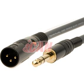 iCAN XLR-M TRS-M 22AWG High Clarity/Resolution ProAudio Silver Wires OD=8mm - 100 ft. (PAXLRMTRSM-100)