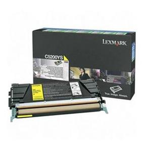 Lexmark C5200YS Yellow Return Program Toner Cartridge