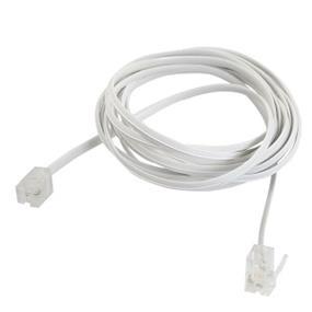 GENERIC RJ11/RJ14 Telephone Cable with 6P2C/6P4C Connectors - 6 ft.