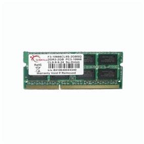 G.SKILL SQ Series 2GB DDR3 1333MHz CL9 SODIMM Memory (F3-10666CL9S-2GBSQ)