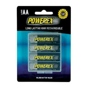 Powerex 4xAA 2700mAh High Capacity NiMH Rechargeable batteries (MHRAA4) (Made in Japan)