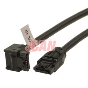 iCAN SATA 3 6GB/s Data Cable Right Angle - 50cm (SATA3-6G-20RS)