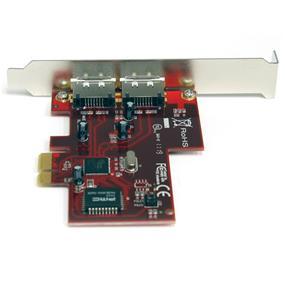 StarTech 2 Port PCI Express eSATA Controller Adapter Card (PEXESATA2)