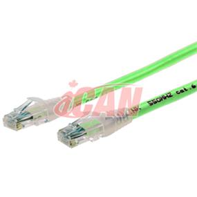iCAN CAT6 RJ45 Patch Cable, Snagless - 7 ft. (Light Green) (C6ENB-007GRN)
