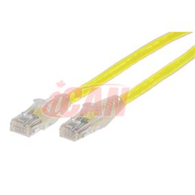 iCAN CAT6 RJ45 Patch Cable, Snagless - 15 ft. (Light Yellow) (C6ENB-015YEL)