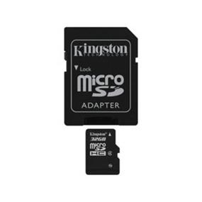 Kingston 32GB (Class 4) microSDHC Card - Min speed 4MB/s Read, 4MB/s Write  (SDC4/32GBCR)