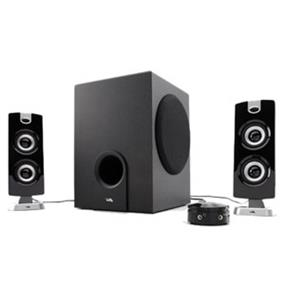 Cyber Acoustics 30 Watts RMS 2.1 Flat Panel Design Speaker System (CA-3602)