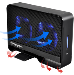 Thermaltake (ST0020U) Max5G USB 3.0 Super Speed Active Cooling with two 80mm Fan Hard Drive Enclosure