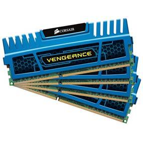 Corsair Vengeance Blue 16GB (4x4GB) 1600MHz DDR3 CL9 1.5V DIMMs (CMZ16GX3M4A1600C9B)