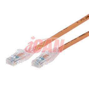iCAN CAT6 RJ45 Patch Cable, Snagless - 50 ft. (Light Orange) (C6ENB-050ORG)