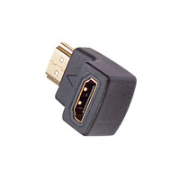 iCAN 90 Degree HDMI Male to HDMI Female Right-Angle Adapter Gold Plated Connectors (STA-RHMF001)