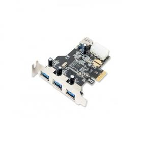 SYBA (Best Connectivity) USB 3.0 PCI-e Card with HDD Power Connector (3 + 1 Ports) Low Profile Bracket Included (SD-PEX20080)